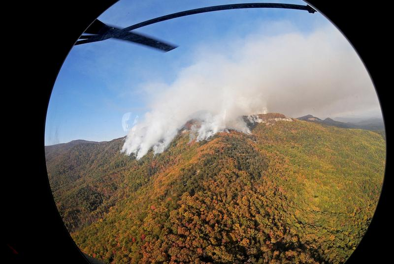Pinncale mountain fire: Image Credit: U.S. Army National Guard Staff Sgt. Roberto Di Giovine via Flickr CC BY 2.0
